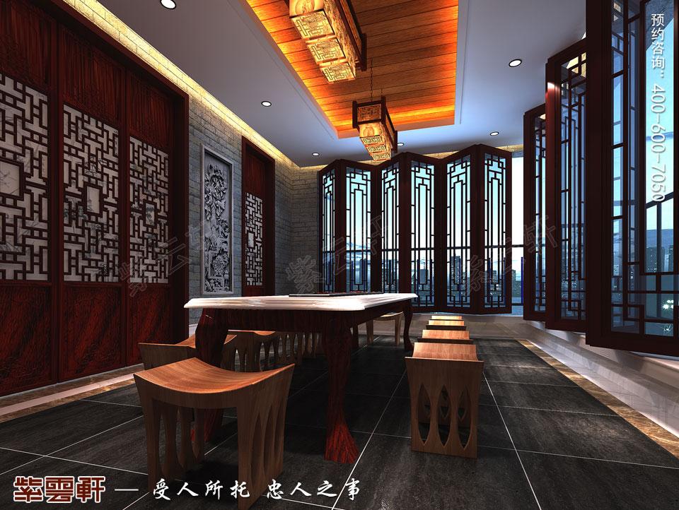 丹东大平层住宅复古中式设计装修效果图,阳台中式设计