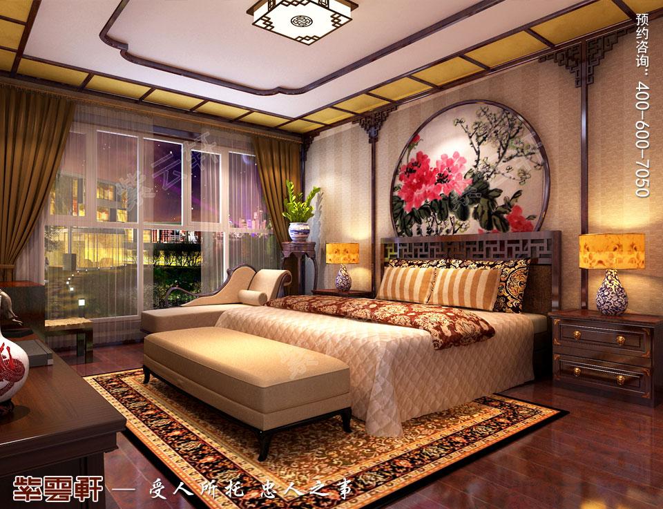 长春豪宅简约古典中式风格装修案例,主卧中式装修