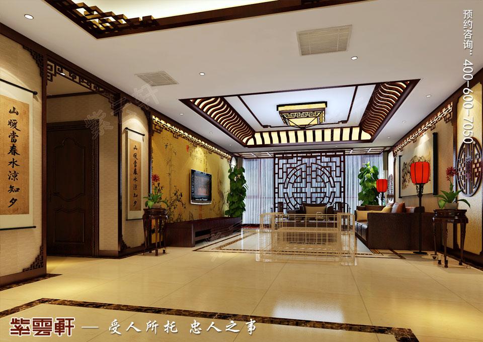 哈尔滨平层房屋中式古典装修效果图,客厅中式装修效果图