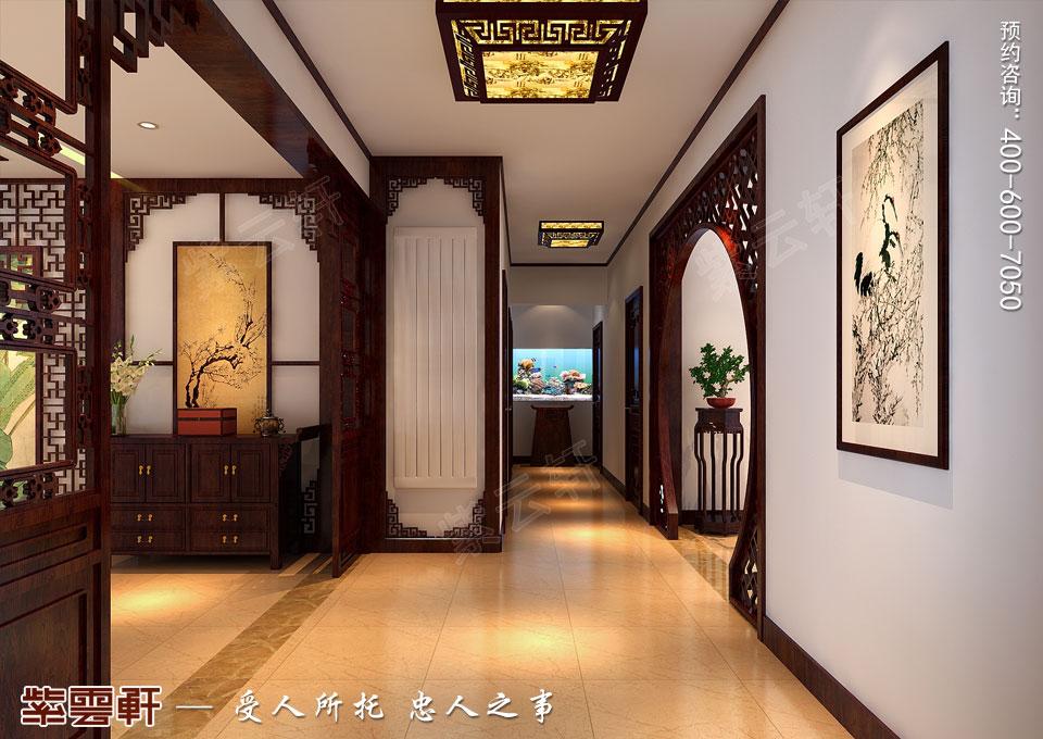 哈尔滨平层房屋中式古典装修效果图,门厅中式装修