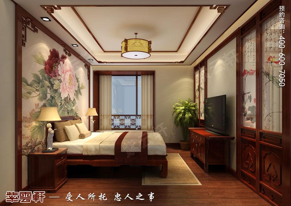 哈尔滨平层房屋中式古典装修效果图,女儿房中式装修