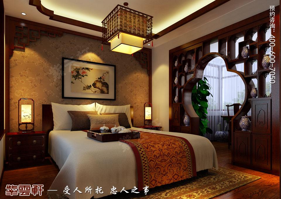 哈尔滨平层房屋中式古典装修效果图,老人房中式装修
