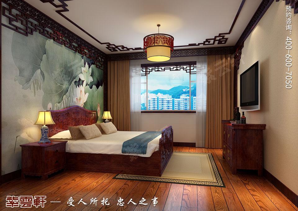 哈尔滨平层房屋中式古典装修效果图,客房中式装修