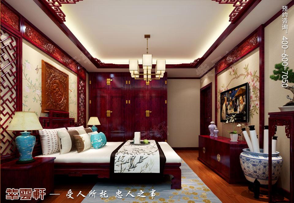 石家庄大平层简约古典中式风格装修案例,中式客卧设计装修