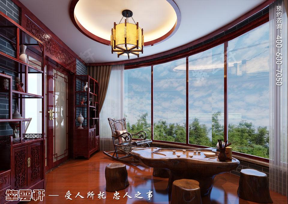 辽宁大连高层大宅复古中式风格装饰,阳台中式装修效果图