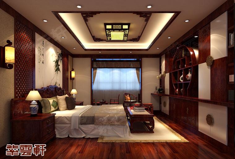 江苏南京新中式装修风格设计,主卧中式装修