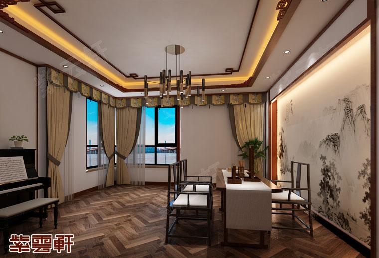 江苏南京新中式装修风格设计,书房中式装修