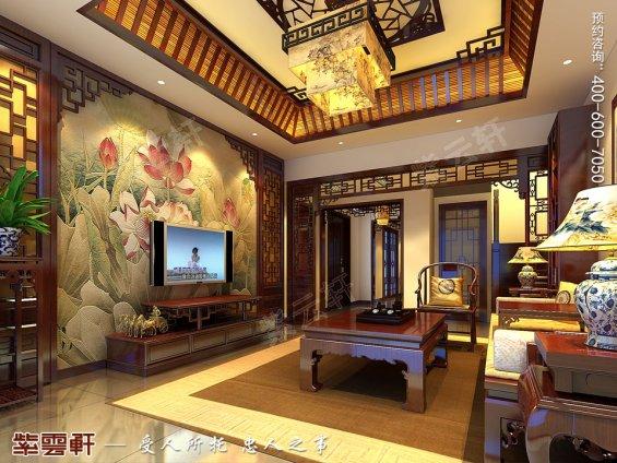 北京洋房顶楼设计古典中式装修效果图,客厅中式设计
