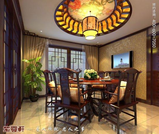北京洋房顶楼设计古典中式装修效果图,餐厅中式装修图