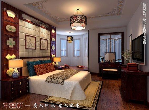 北京洋房顶楼设计古典中式装修效果图,主卧中式装修