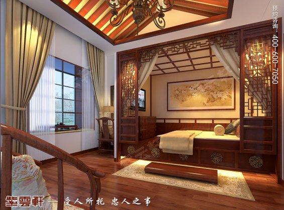 北京洋房顶楼设计古典中式装修效果图,暖阁中式装修