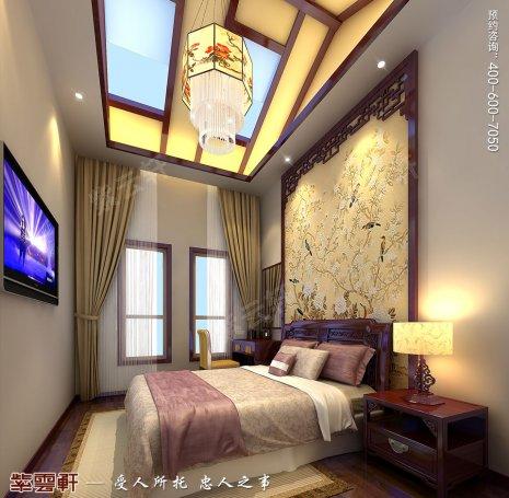 北京洋房顶楼设计古典中式装修效果图,女儿房中式设计