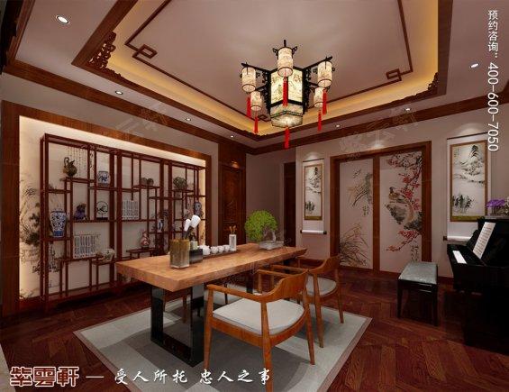 北京洋房顶楼设计古典中式装修效果图,茶室中式风格装修