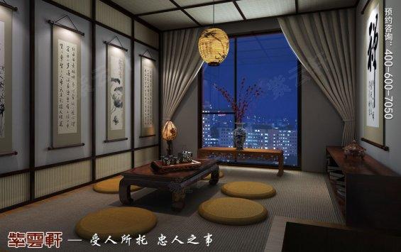 北京洋房顶楼设计古典中式装修效果图,阳台中式装修设计