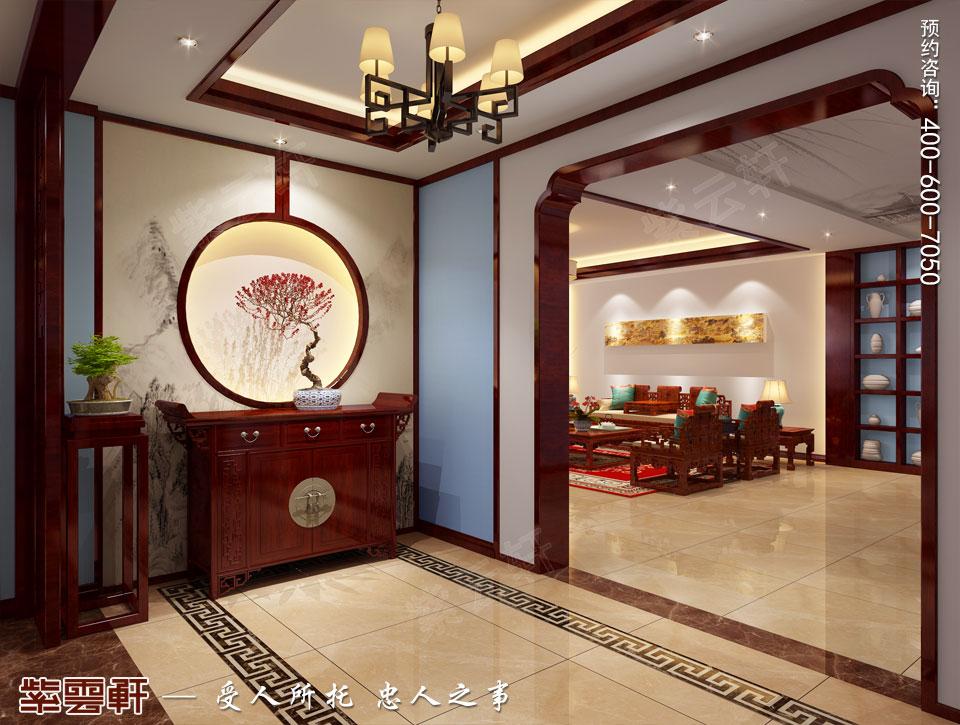 山西平层大宅现代中式风格装修效果图欣赏,玄关中式装修