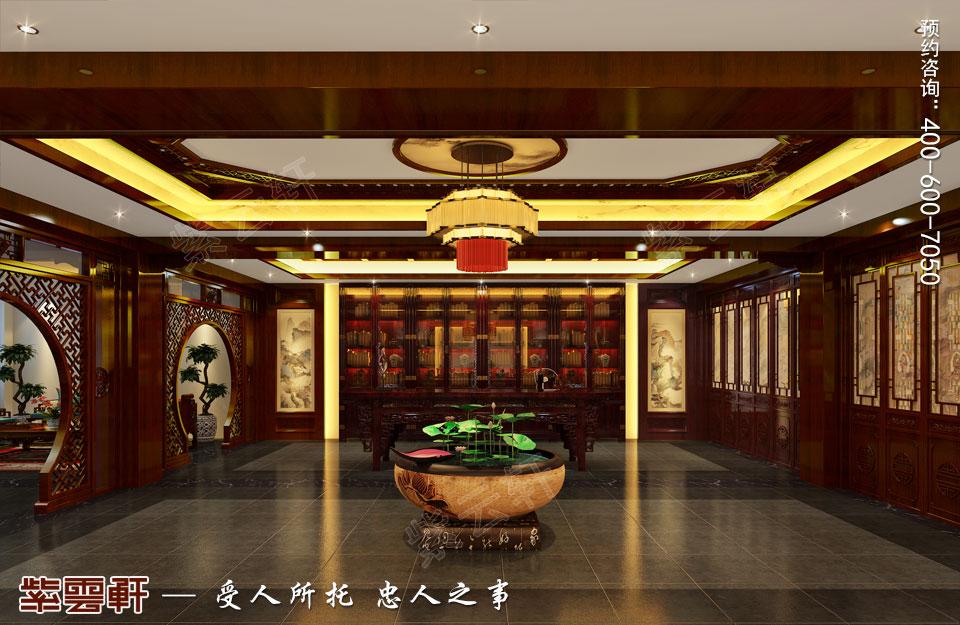 山西平层大宅现代中式风格装修效果图欣赏,书房中式设计