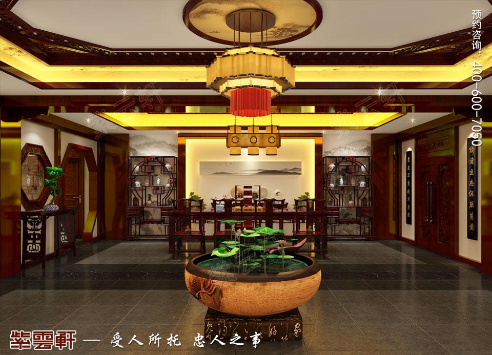 山西平层大宅现代中式风格装修效果图欣赏,茶室中式装修