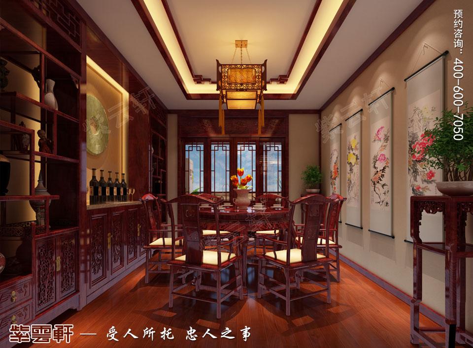 郑州复式简约中式装修效果图,餐厅中式装修