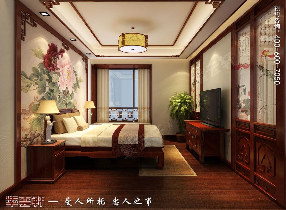 郑州复式简约中式装修效果图,老人房中式设计