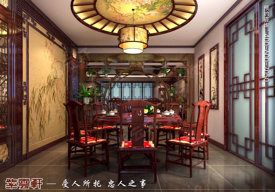 营口现代中式装修设计效果图,餐厅中式设计图
