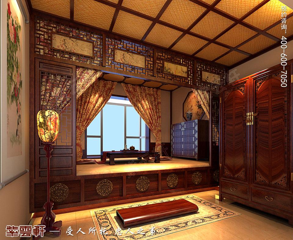 营口现代中式装修设计效果图,暖阁中式设计