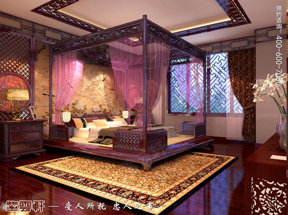 营口现代中式装修设计效果图,主卧室中式装修