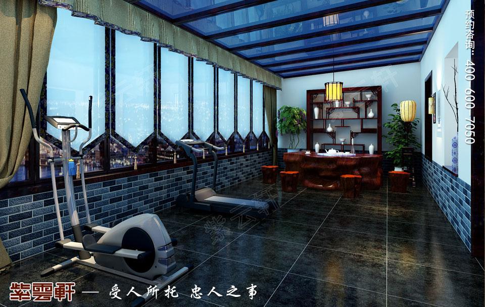保定复式现代中式装修效果图,茶室阳台中式装修