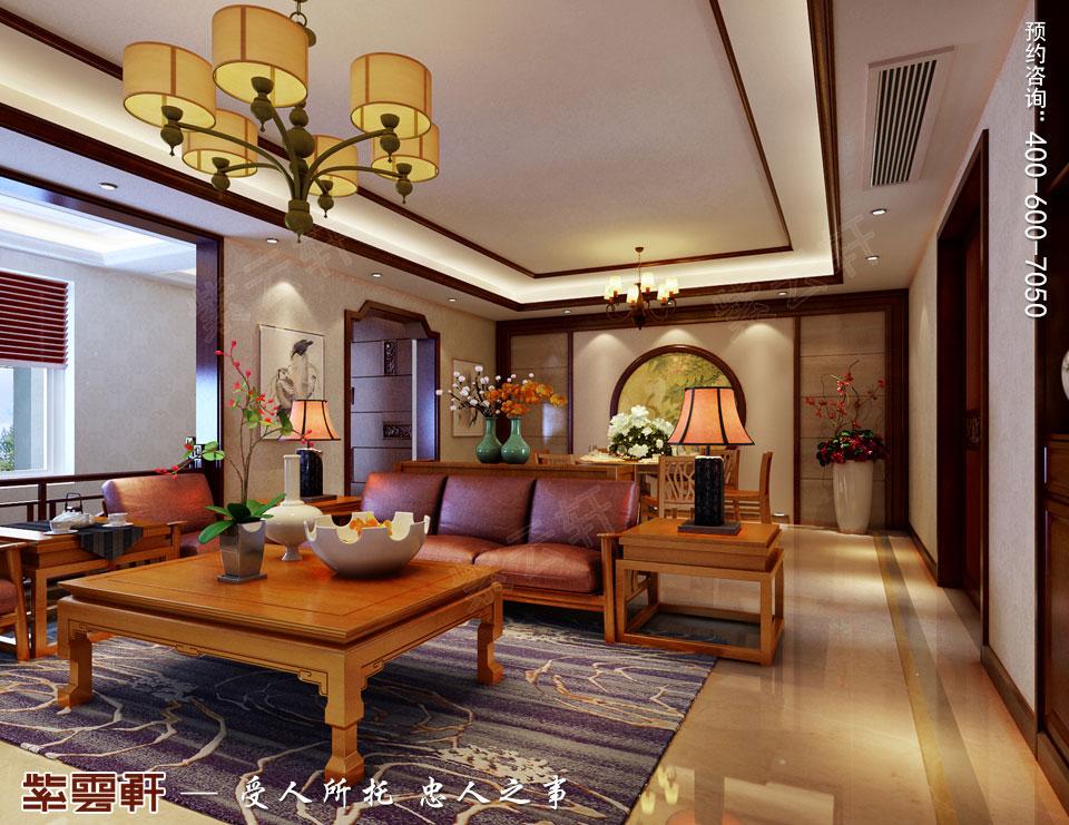 南通复式楼现代新中式风格装修效果图,中式客厅装修图