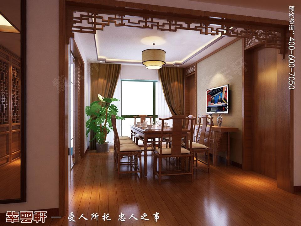 保定复式楼现代中式装修效果图,餐厅中式设计