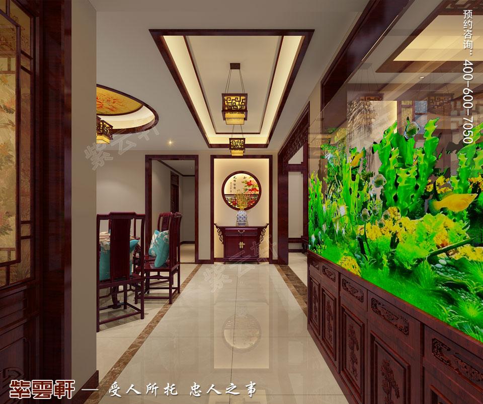 陕西西安复式古典中式风格装修,门厅中式设计