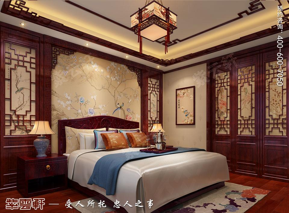 陕西西安复式古典中式风格装修,主卧中式装修