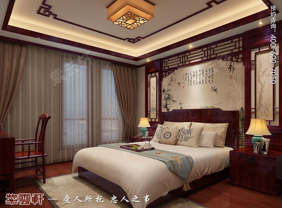 陕西西安复式古典中式风格装修,客卧中式装修