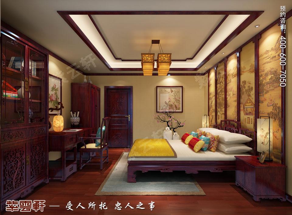 陕西西安复式古典中式风格装修,次卧中式装修