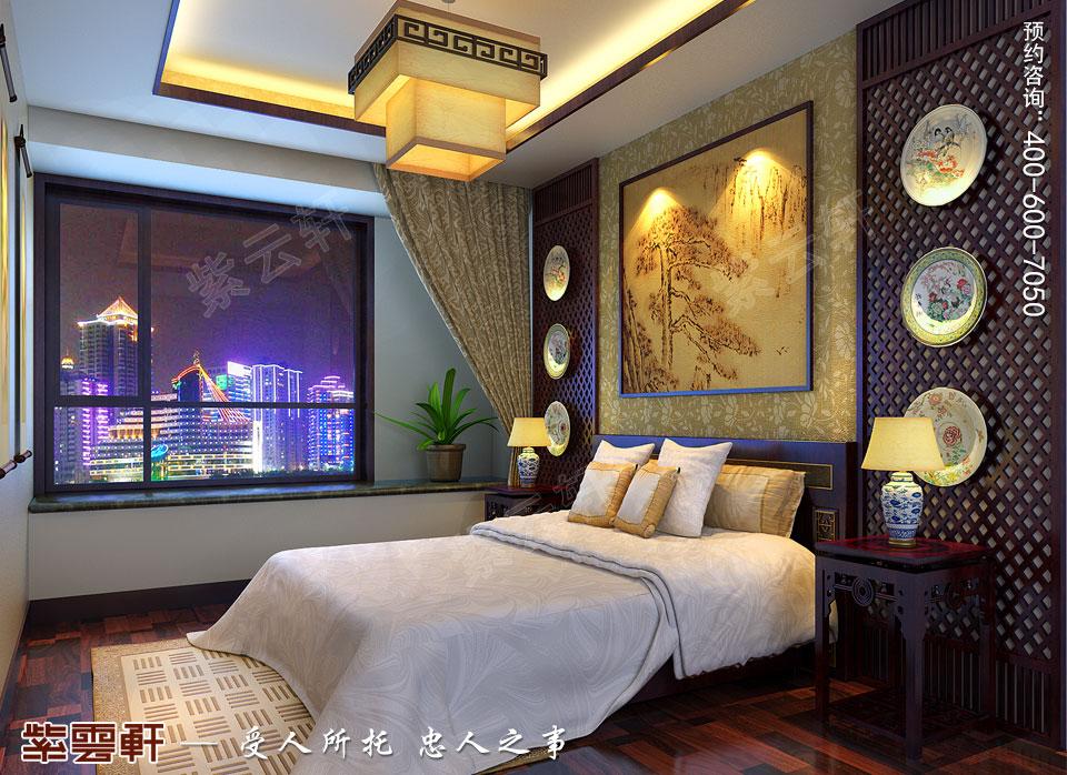 山西太原复式楼新中式装修风格,次卧中式装修图片