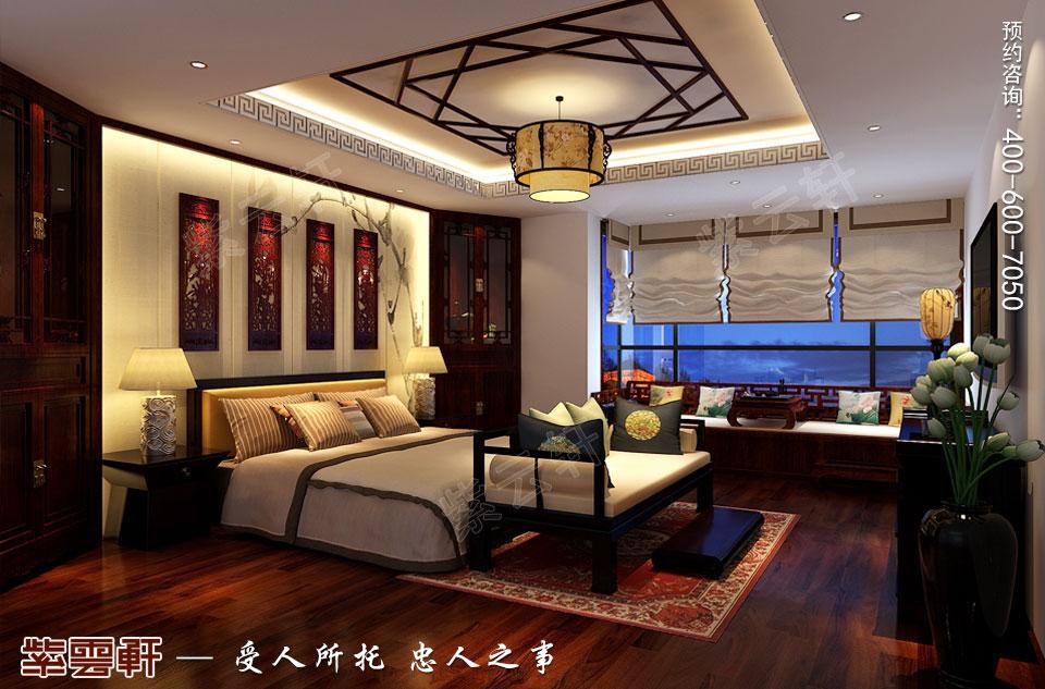 山西太原复式楼新中式装修风格,中式风格卧室
