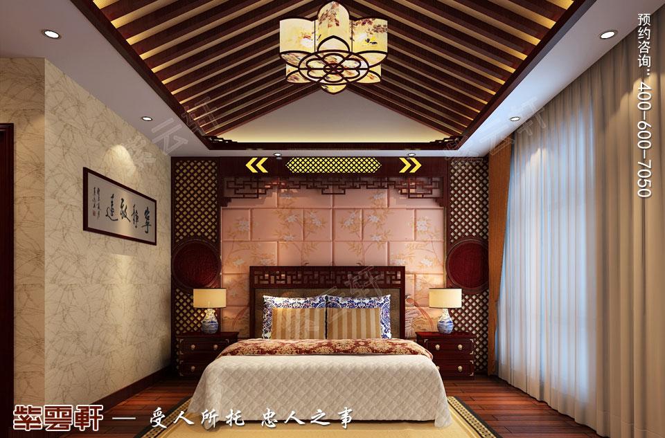 山西太原复式楼新中式装修风格,卧室中式装修