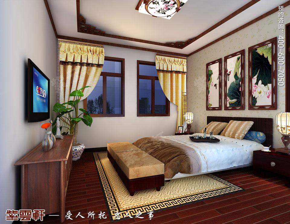 昆山吴先生复式楼古典中式装修效果图,次卧中式装修