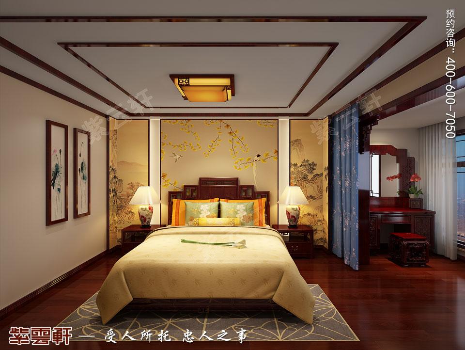 张家口简约古典中式装修复式楼效果图,女儿房中式装修