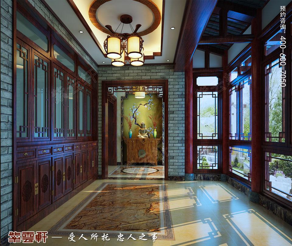 扬州复式楼简约古典中式装修效果图,门厅中式设计