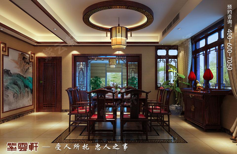 扬州复式楼简约古典中式装修效果图,中式餐厅设计图