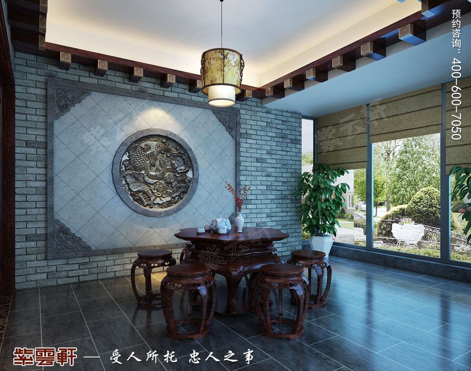 扬州复式楼简约古典中式装修效果图,中式茶室装修设计图