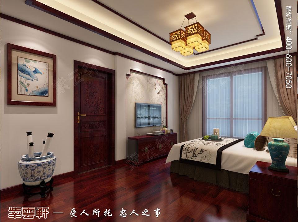 扬州复式楼简约古典中式装修效果图,男孩房中式装修设计图
