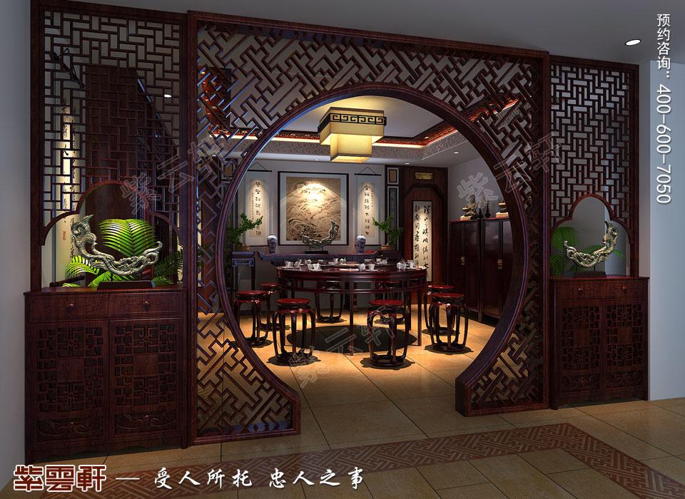 河北保定复式楼简约现代中式装修效果图,餐厅中式装修