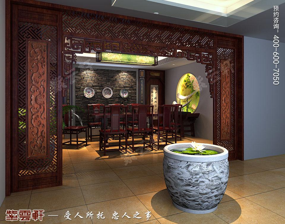河北保定复式楼简约现代中式装修效果图,茶室中式设计