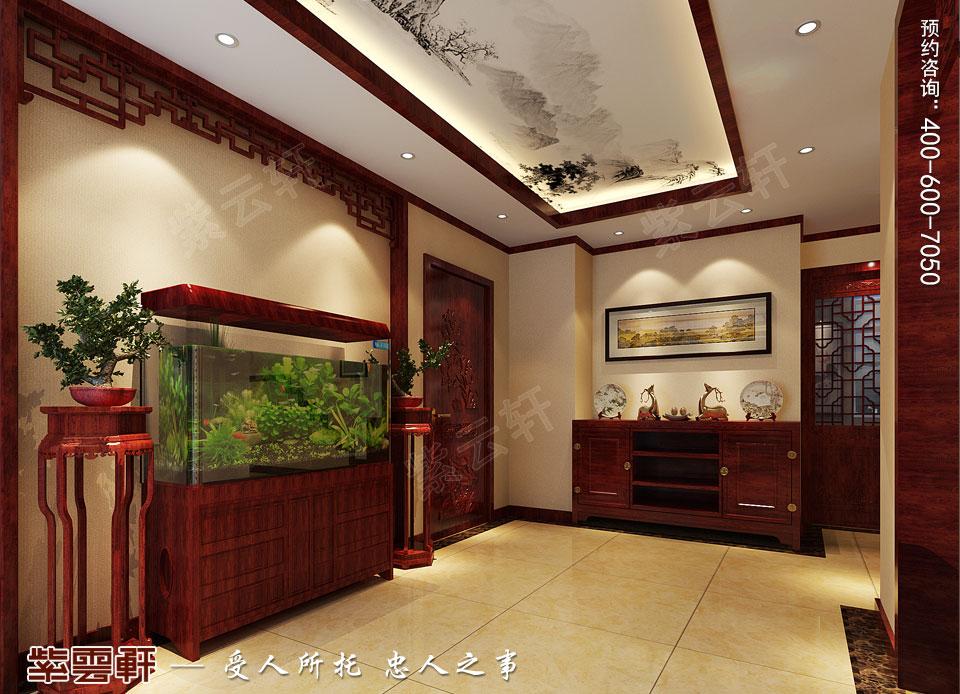 北京通州于家务复式楼大宅新中式风格装修图片,玄关中式装修
