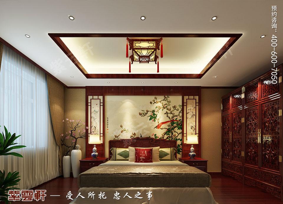 北京通州于家务复式楼大宅新中式风格装修图片,主卧中式装修效果
