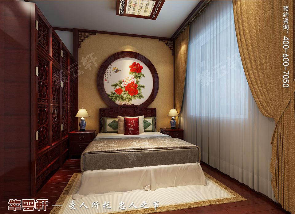 北京通州于家务复式楼大宅新中式风格装修图片,客卧中式装修设计