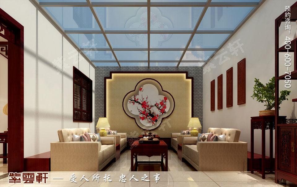 北京通州于家务复式楼大宅新中式风格装修图片,中式阳台设计装修