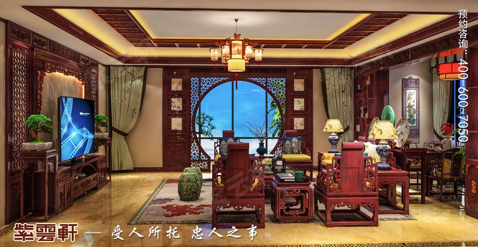 陕西汉中古典中式风格装修效果图,客厅中式风格设计