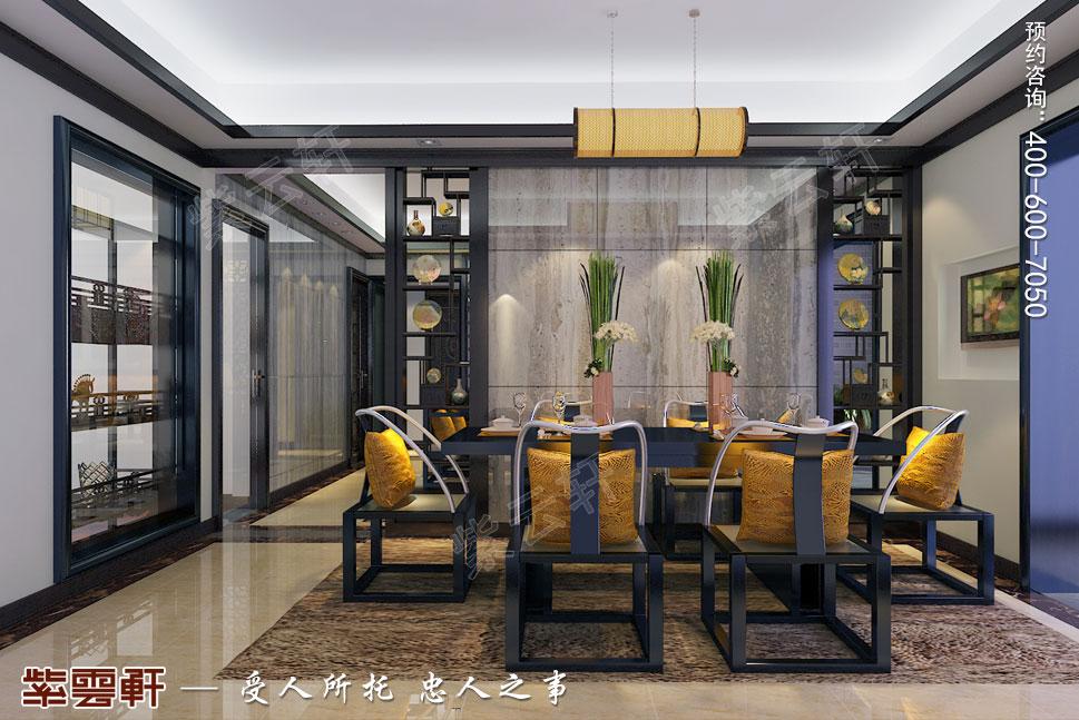 常州别墅新中式装修设计效果图,餐厅中式装修效果图